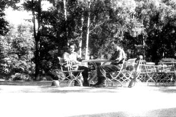 Beer Garden Thackberry- Heidelberg Germany 1945