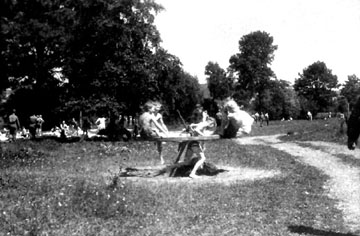 Swimming hole near Bad Mergentheim, Germany 1945