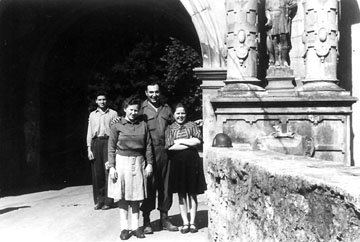 T/5 Frollo and Russian women, Bad Mergentheim, Germany 1945