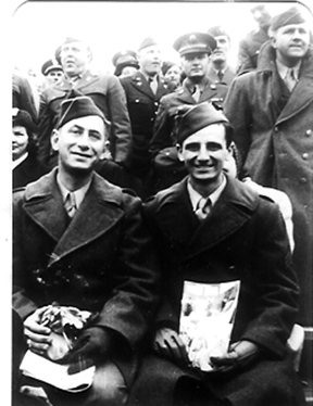 Samuels and Calzetta- Hq 1st Bn 255th Inf Regt- New Orleans LA 1944