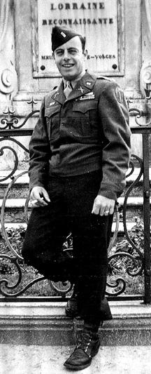 Lt Beauregard E/255th Inf Regt Nancy France 1945