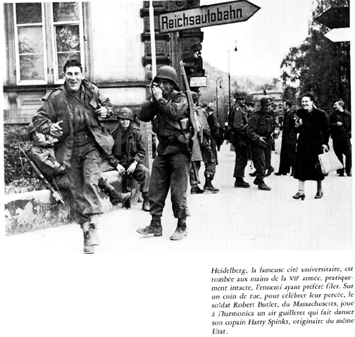 Spinks and Butler- E/255th Inf Regt Heidelberg, Germany 1945