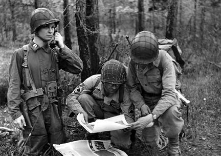 Hq 3d Bn, 255th Inf Regt, Cp Van Dorn, MS April 1944