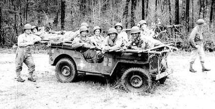 B Co 363d Med Bn, Cp Van Dorn, MS 1944