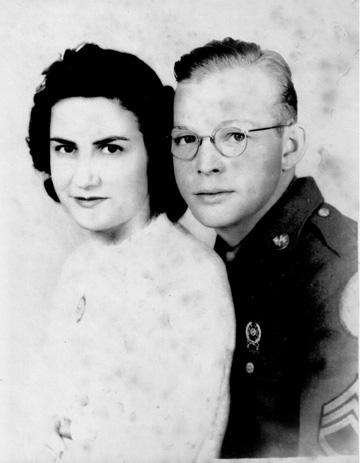 John and Hazel Waters, 563d Sig Co 1944