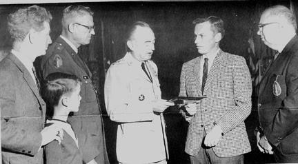 63d personnel presenting plaque