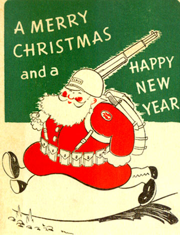 63rd Infantry Division Christmas Card- 1943 Cp Van Dorn, MS