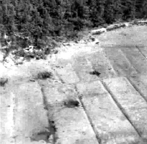 Aerial view of battle area near Heilbronn Germany 1945