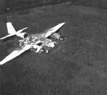 German Bomber near Bad Mergentheim, Germany 1945