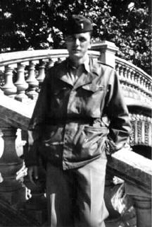 Lt Farrell Hq 862d FA Bn- Grenoble France 1945