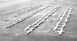 Glider Park South of Stuggart, Germany 1945