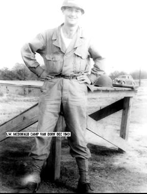 McDonald, B Btry 863d FA Cp Van Dorn, MS 1943