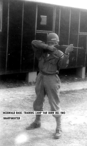 McDonald, B Btry 863d FA Bn Cp Van Dorn, MS 1943