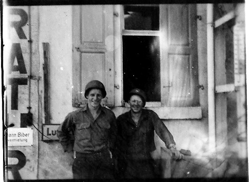 Neily and Crosser Hq 863d FA Bn Germany 1945