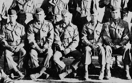 Officers, 863d FA Bn, Camp Van Dorn, MS
