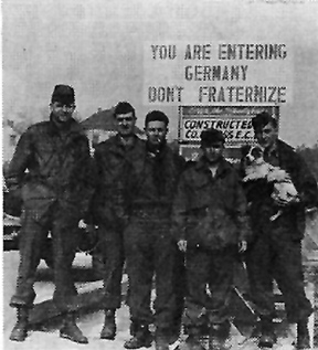 Soldiers from Hq 63d Inf Div-Germany 1945