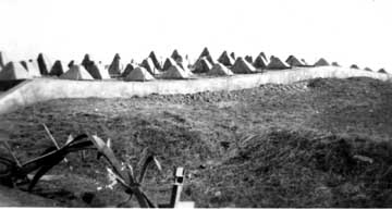 Siegfried Line Dragons Teeth- Germany 1945