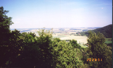 View of battle fields near the Kocher and Jagst River