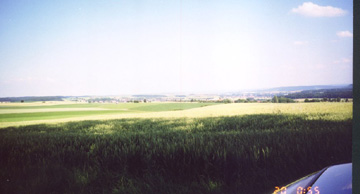 View of battlefield near Kocher/Jagst Rivers