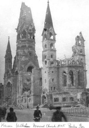 Kaiser Wilhelm Church, Berlin Germany 1945