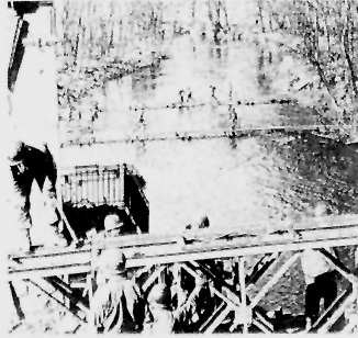 63d Infantry Division troops cross the Blies River