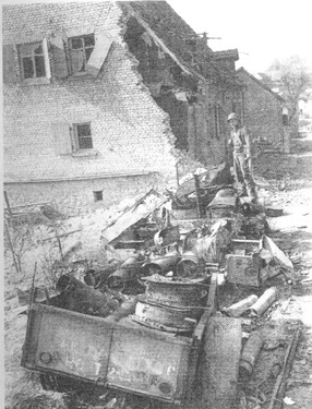 German Artillery damage- Ensheim, Germany