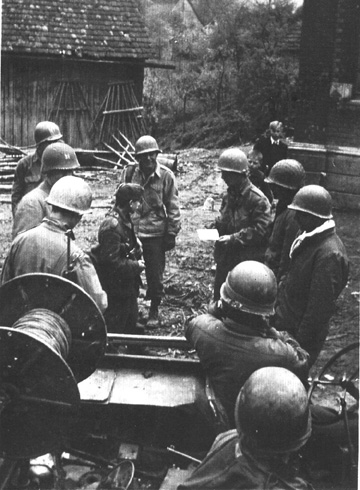 63rd Infantry Division troops in Germany 1945