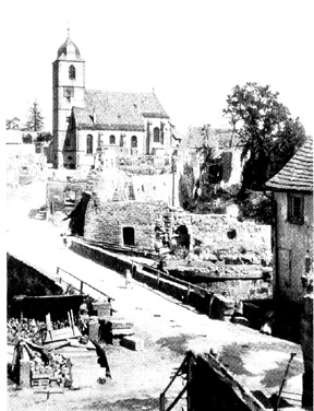 View of Waldenburg Germany after capture