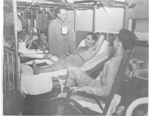 Sgt Edmund Hooven at Camp Pickett Hospital