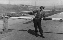 Kinney, H/253d Inf at border site, Germany 1945