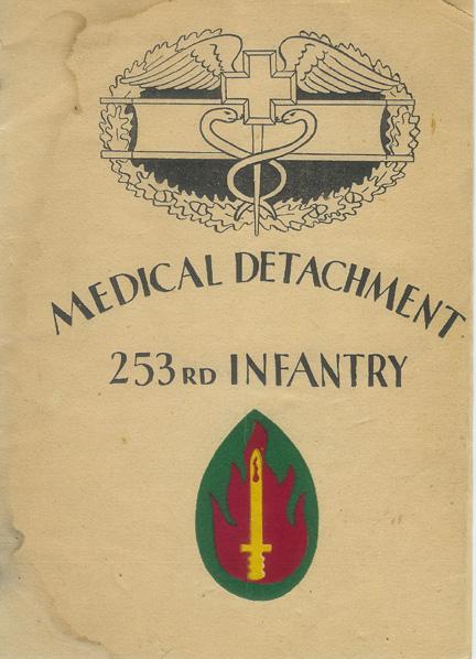 Cover page Med Det 253d Inf pamphlet- 1945