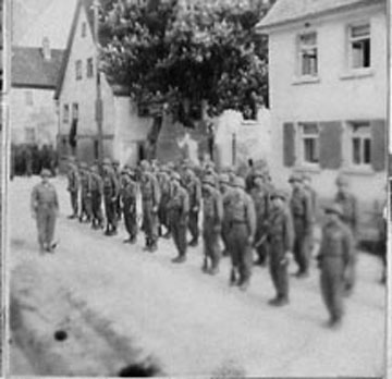 T/Sgt Yakas and his platoon, F/254th Infantry Germany 1945