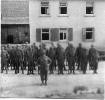 T/Sgt Yakas and his platoon, F/254th Inf Germany 1945