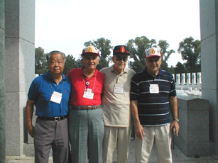 Members of K Company 255th Inf at WWII Memorial Aug 04