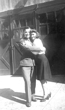 Brazicki and Sister-on Leave 1944