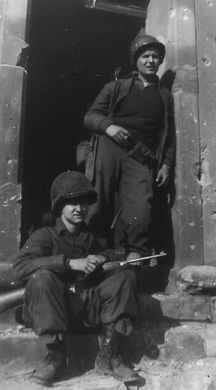 Cronan and buddy, Hq 3d Bn 255th Germany