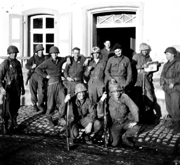 Members of I Co 255th Infantry in Germany 1945