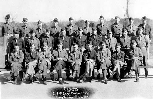 263d Engr Bn Officers Cp Van Dorn MS Dec 44