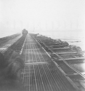 Pontoon Bridge at Rhine River C/263d Engr