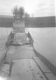 Demolished Neckar River Bridge