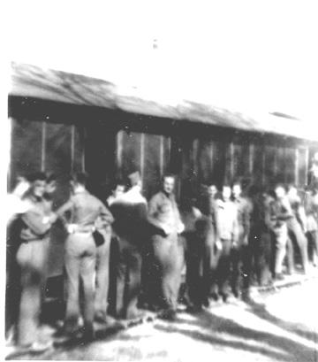 A/363 Med Bn Chow line Cp Van Dorn -1944