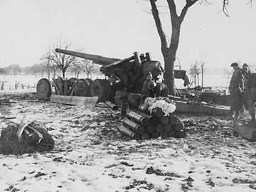 """Long Tom"" 155mm in the Guemar, France area Jan 45"
