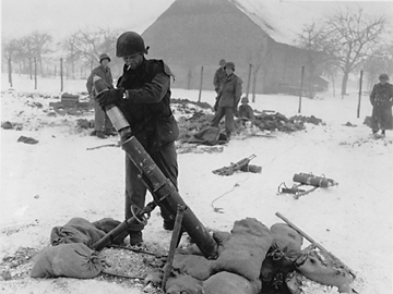 Loading a 4.2 Mortar in Ostheim, France Jan 45