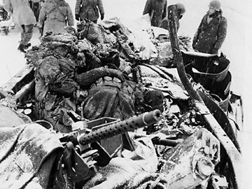American soldiers killed in halftrack- January 1945