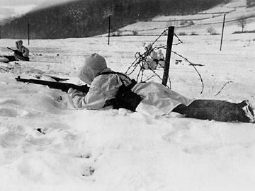 Third Division soldiers in defensive positions- Dec 44