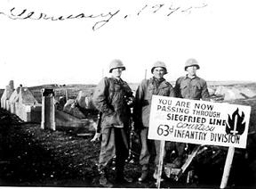 63d Recon Troop, Siegfried Line Mar 45 Germany