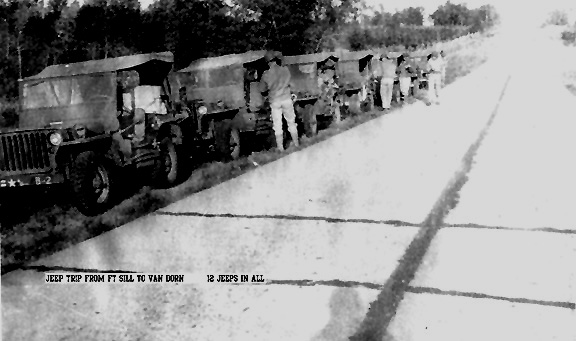 B Btry 863d FA Bn on the road 1943