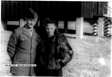 Pvt Gold and wife, B Btry 863d FA Bn CpVan Dorn, MS 1943