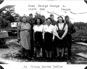 Soldiers and their wives, Centreville, MS 1943