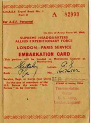 Slutsky Hq 63d Embarkation Card